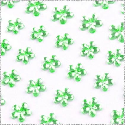 Samoprzylepne ozdoby - Kwiatuszki - Limetkowe