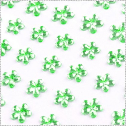 Selfadhesive mini flowers - Lime
