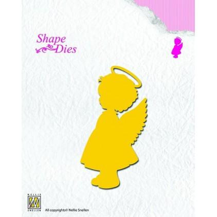 Aniołek dziewczynka wykrojniki do papieru - Nellie's Choice SD074