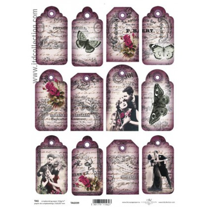 ITD Collection - Scrapbooking paper - TAG039