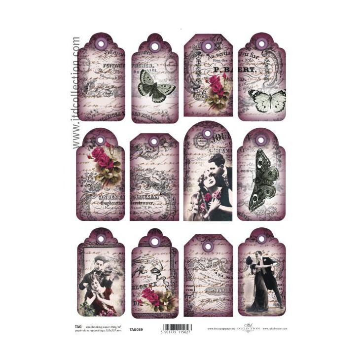 ITD Collection - Papier do scrapbookingu - TAG037