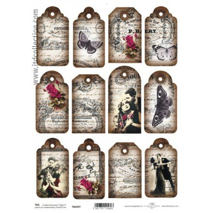 ITD Collection - Scrapbooking paper -  TAG037