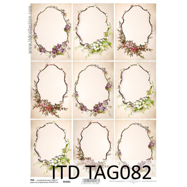 ITD Collection - Scrapbooking paper - TAG082