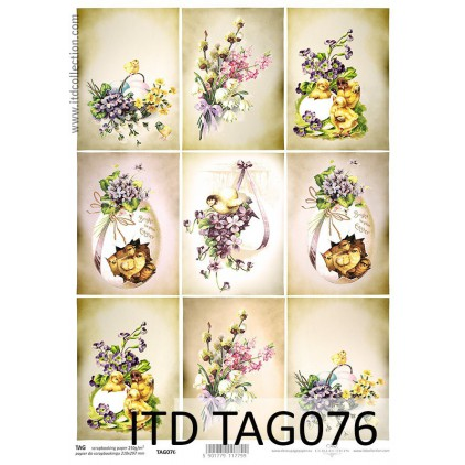 ITD Collection - Scrapbooking paper -  TAG076