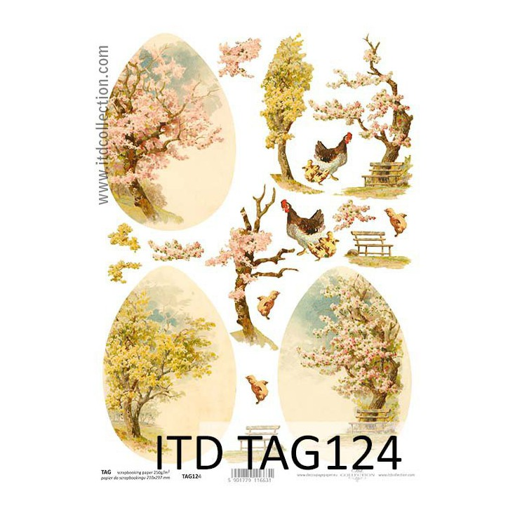 ITD Collection - Scrapbooking paper - TAG124