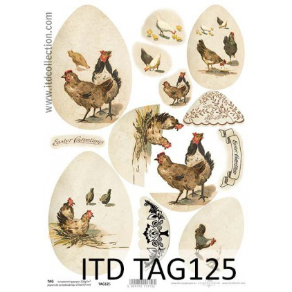 ITD Collection - Scrapbooking paper - TAG125