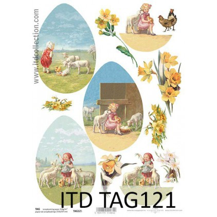 ITD Collection - Scrapbooking paper - TAG121