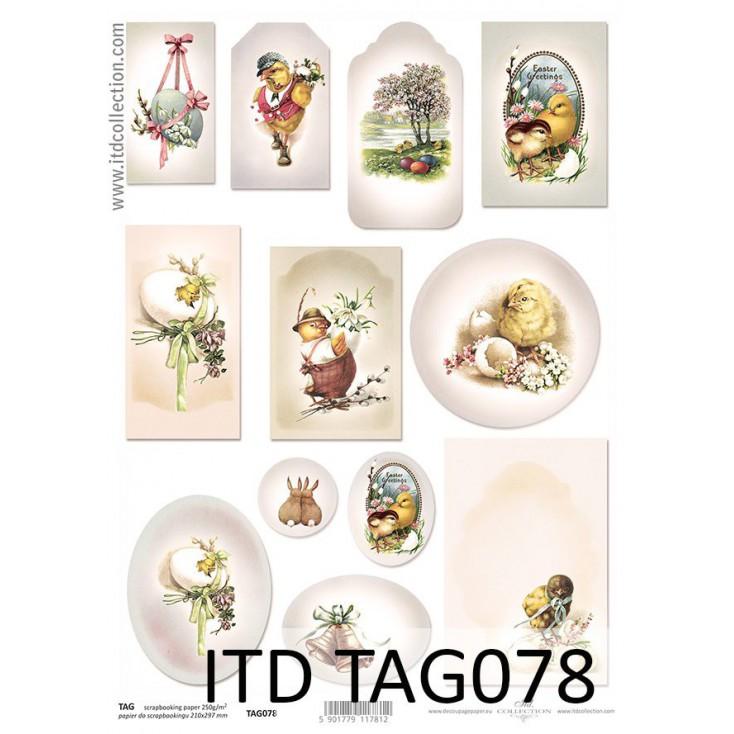 ITD Collection - Papier do scrapbookingu - TAG078