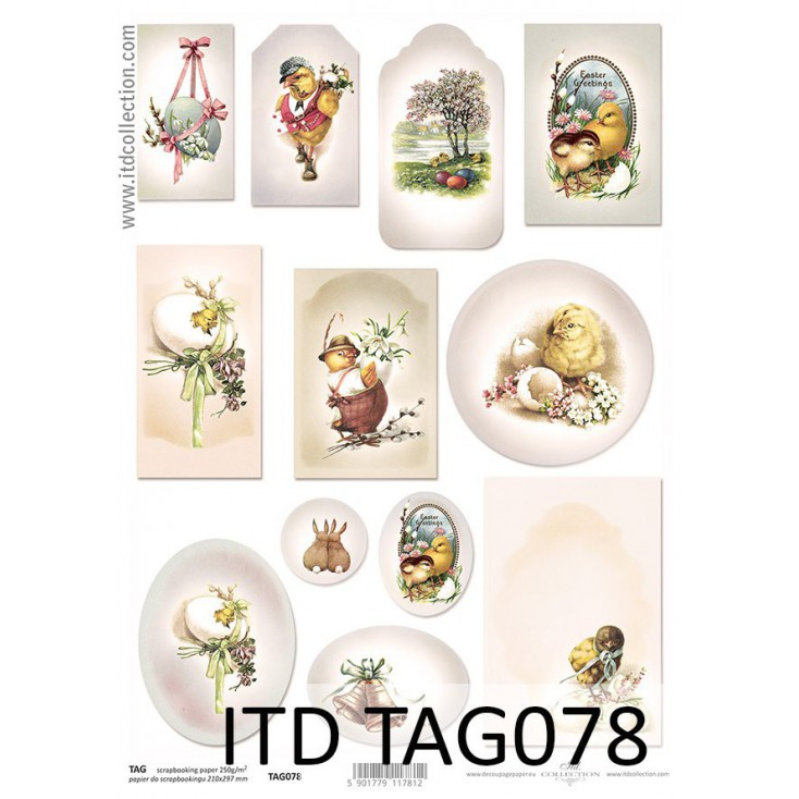 ITD Collection - Scrapbooking paper - TAG078