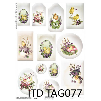 ITD Collection - Scrapbooking paper - TAG077
