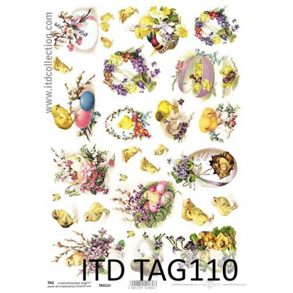 ITD Collection - Scrapbooking paper -  TAG110