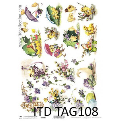 ITD Collection - Scrapbooking paper - TAG108