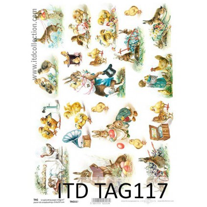ITD Collection - Scrapbooking paper - TAG117