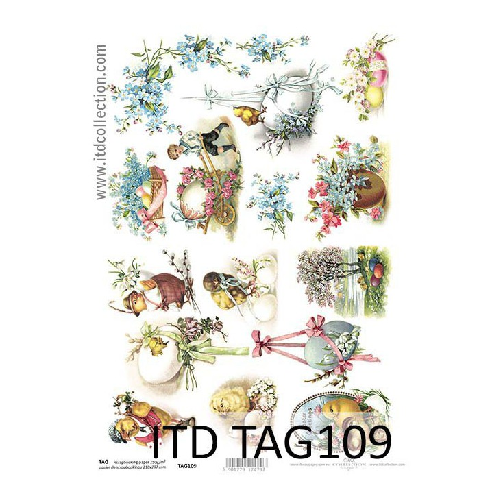 ITD Collection - Scrapbooking paper - TAG109