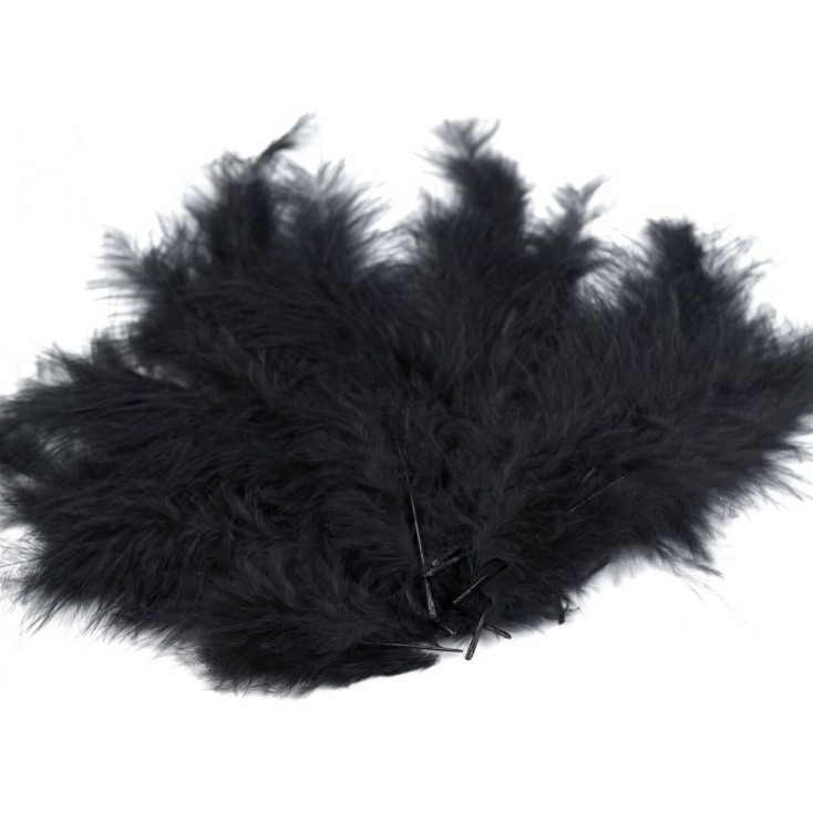 Strusie piórka - Czarne