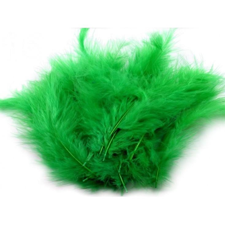 Strusie piórka - Zielone
