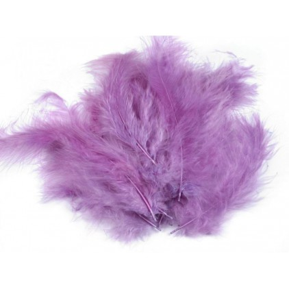 Ostrich feathers light violet