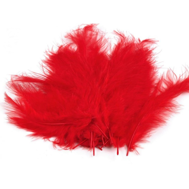 Ostrich feathers - Red