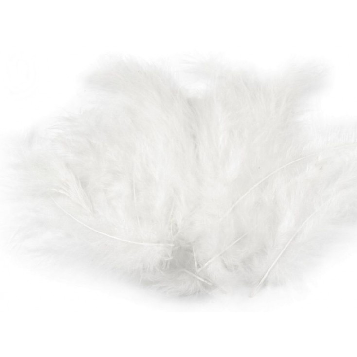 Ostrich feathers - White