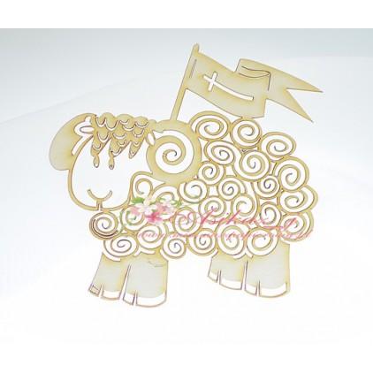 Miszmasz Papierowy - Cardboard element - Easter lamb