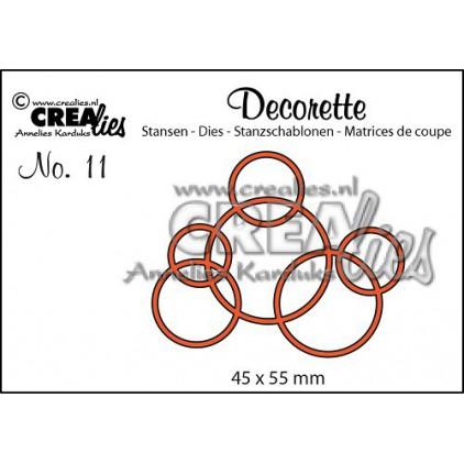 Crealies - Decorette die no. 11 - Interlocking circles