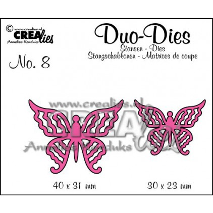 Crealies - Duo Dies no. 8 - Butterflies 4