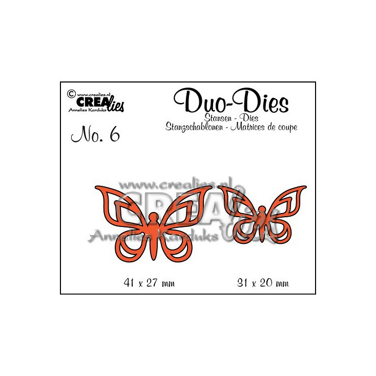 Crealies - Duo Dies  - Butterflies 2