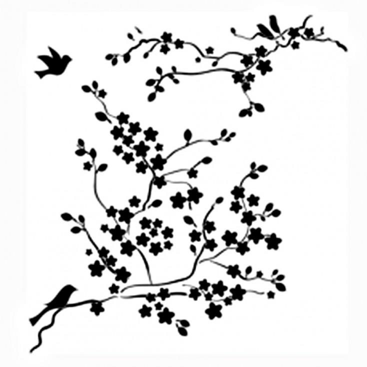 Crafter's Workshop - Maska, szablon 6x6 cali - Mini Cherry Blossoms