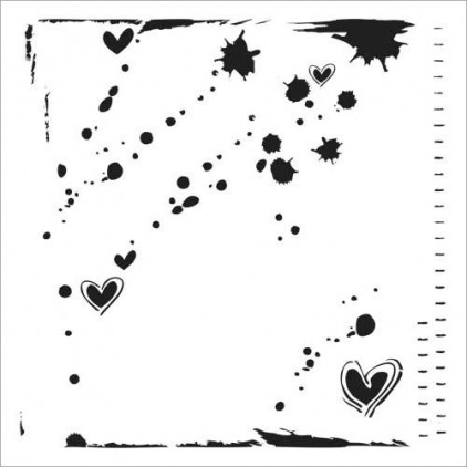 Crafter's Workshop - Mask, stencil, template - 6x6 - Mini Confetti