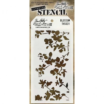 Tim Holtz Collection - Mask, stencil, template - Blossom