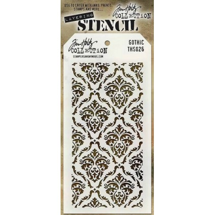 Tim Holtz Collection - Mask, stencil, template - Gothic