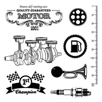 Scrapberry's - Stamp set - Motor