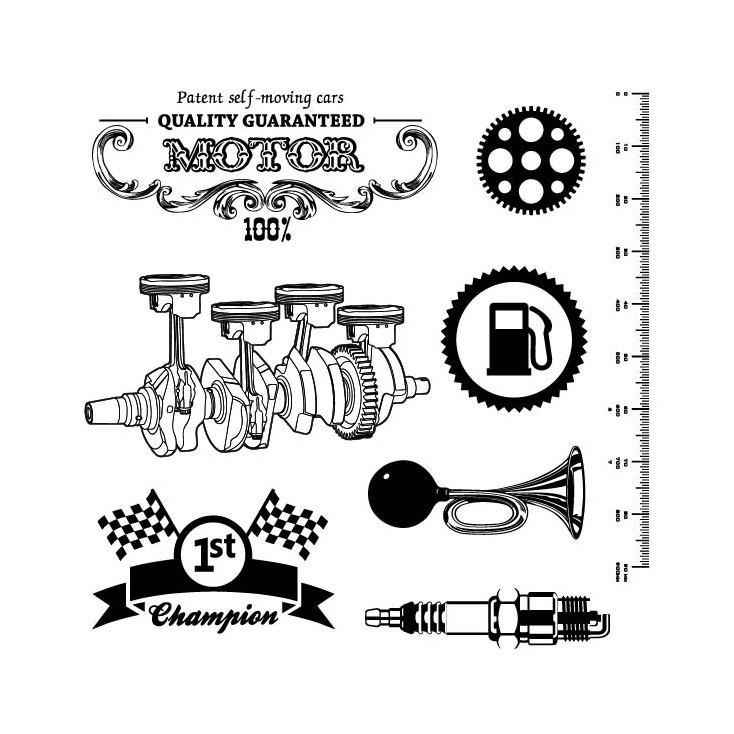 Scrapberry's - Stamp set - Motor