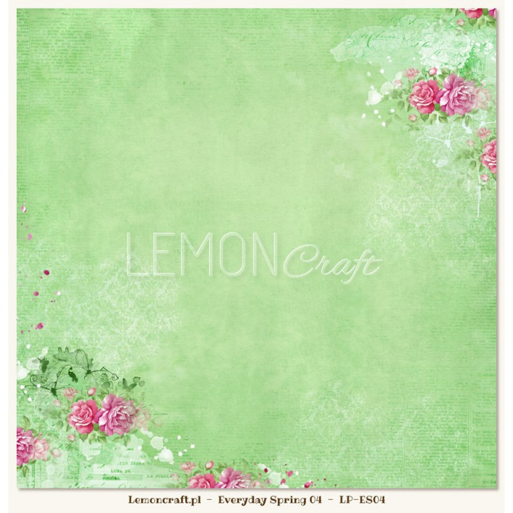 Double sided scrapbooking paper - Everyday Spring 04