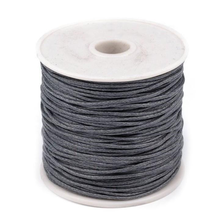Sznurek woskowany - Ø1mm - szpula - ciemnoszary