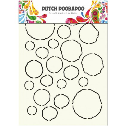 Dutch Doobadoo - Mask, stencil, template A4 - Grunge