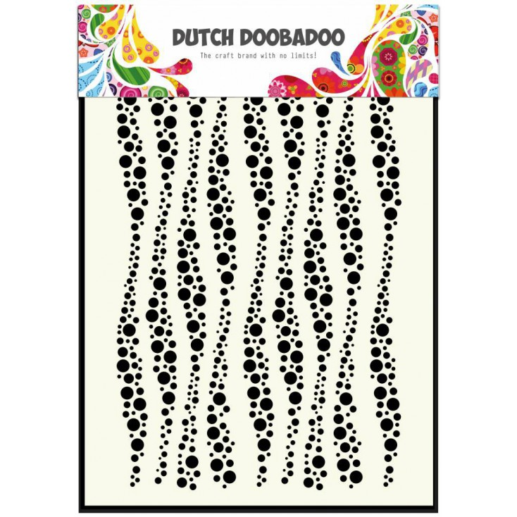 Dutch Doobadoo - Mask, stencil, template A5 - Wavy Stripes
