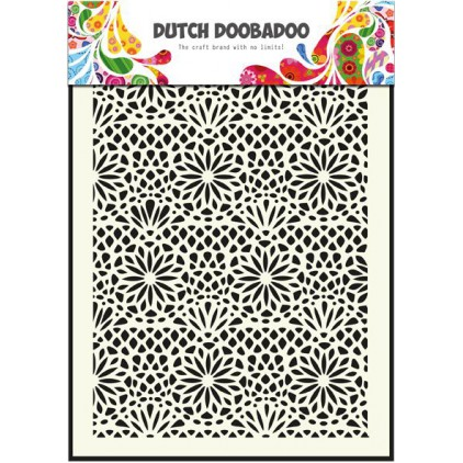 Dutch Doobadoo - Maska, szablon A5 - Flower
