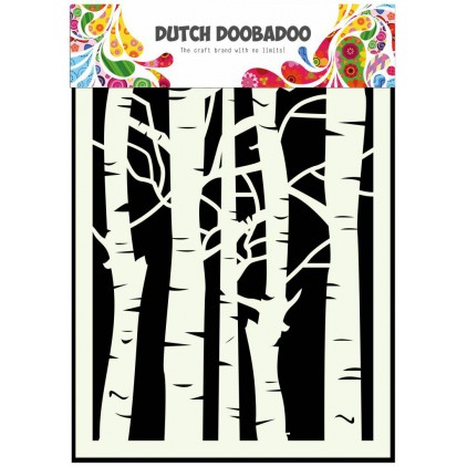 Dutch Doobadoo - Mask, stencil, template A5 - Birch Trees