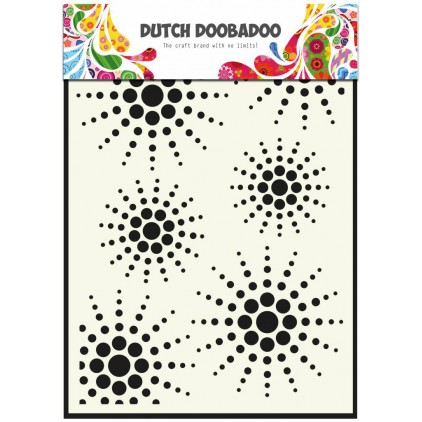 Dutch Doobadoo - Mask, stencil, template A5 - Sun