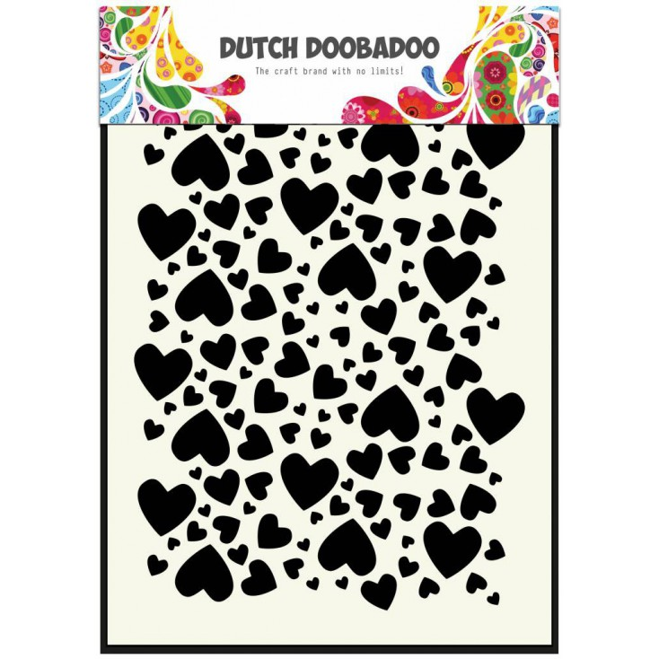 Dutch Doobadoo - Mask, stencil, template A5 - Hearts
