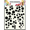 Dutch Doobadoo - Maska, szablon A5 - Grunge Dots