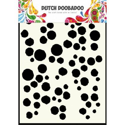 Dutch Doobadoo - Mask, stencil, template A5 - Grunge Dots