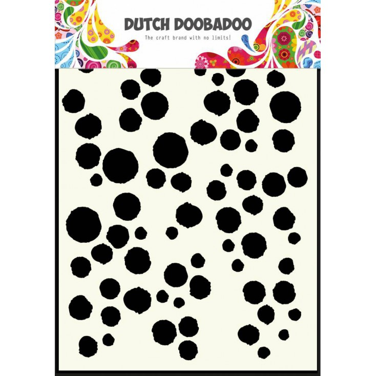 Dutch Doobadoo - Mask, stencil, template A5 - Grunge Dots