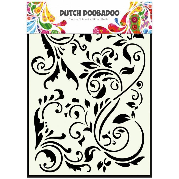 Dutch Doobadoo - Mask, stencil, template A5 - Swirls