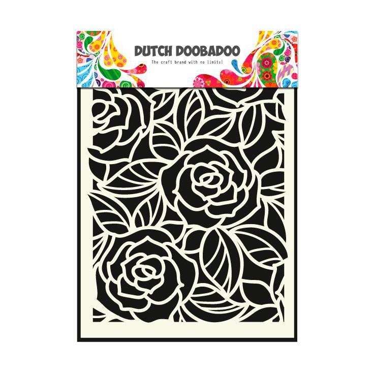Dutch Doobadoo - Maska, szablon A5 - Duże Róże