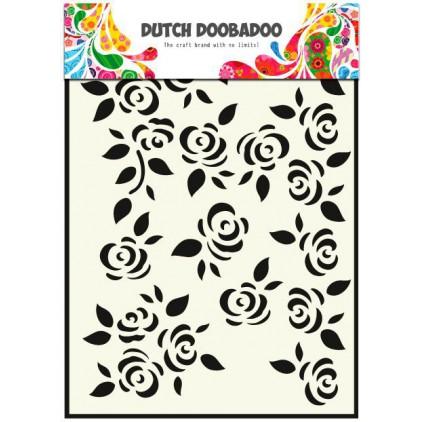 Dutch Doobadoo - Maska, szablon A5 - Róże