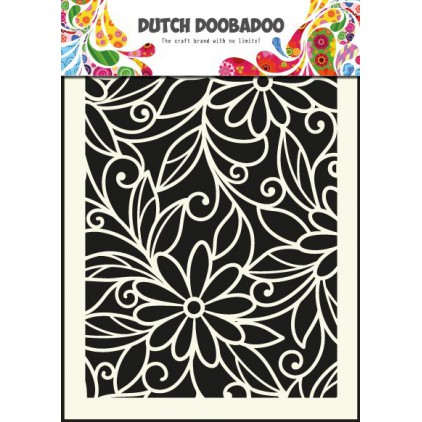Dutch Doobadoo - Mask, stencil, template A5 - Flower Swirl