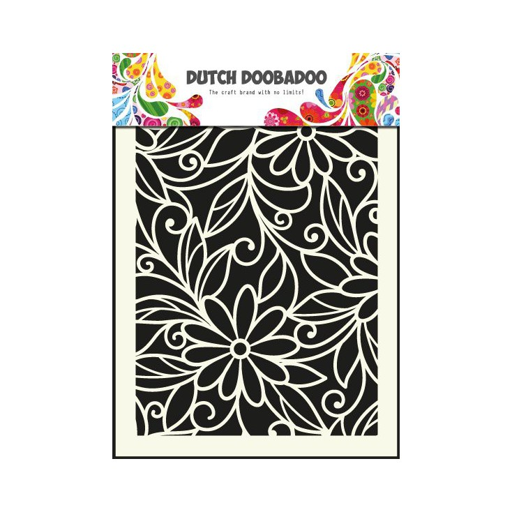 Dutch Doobadoo - Maska, szablon A5 - Flower Swirl