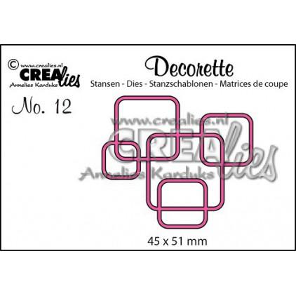 Crealies - Decorette die no. 12 - Kwadraty